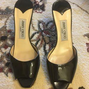 Jimmy choo patent kitten heels